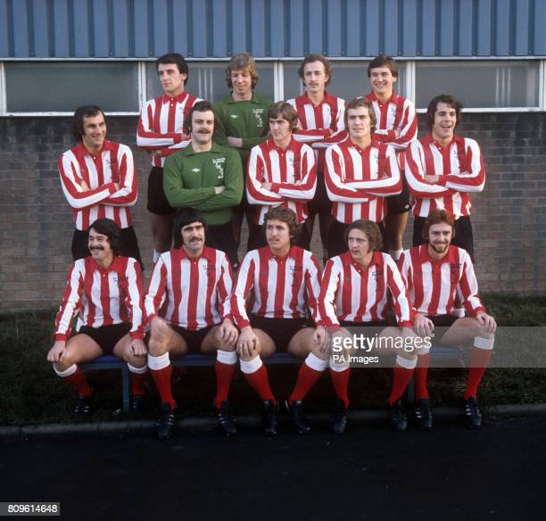 Sunderland Team group Joe Bolton Jim Montgomery Mick Henderson and Gary Rowell Dick Malone Barry Siddall Jack Ashurst Jeff Clarke and Jim Holton...