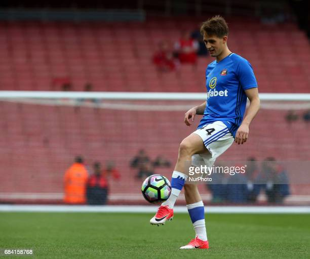 Sunderland's Adnan Januzaj during the prematch warmup during the Premier League match between Arsenal and Sunderland at The Emirates London England...