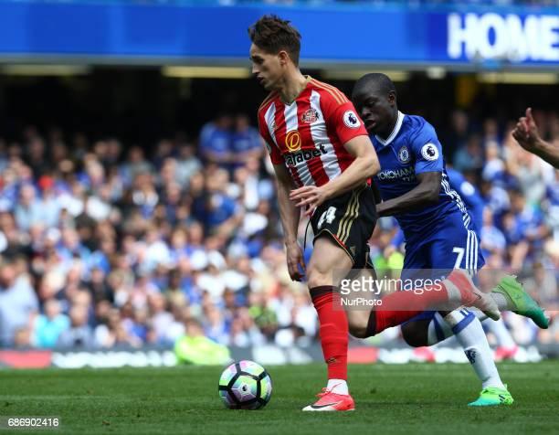 Sunderland's Adnan Januzaj during the Premier League match between Chelsea and Sunderland at Stamford Bridge London England on 21 May 2017