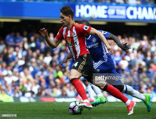 Sunderland's Adnan Januzaj during the Premier League match between Chelsea and Sunderland at Stamford Bridge London England on 21 May 2017