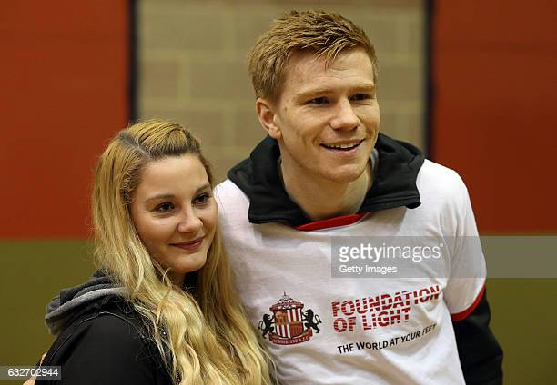 Sunderland's Duncan Watmore right poses for a photograph on January 25 2017 in Sunderland England