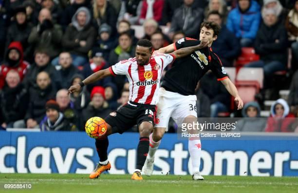 Sunderland's Jermain Defoe and Manchester United's Matteo Darmian