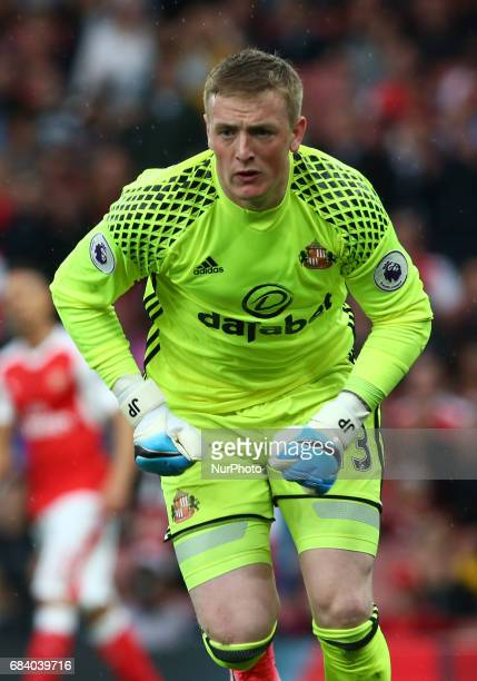 Sunderland's Jordan Pickford during the Premier League match between Arsenal and Sunderland at The Emirates London England on 16 May 2017