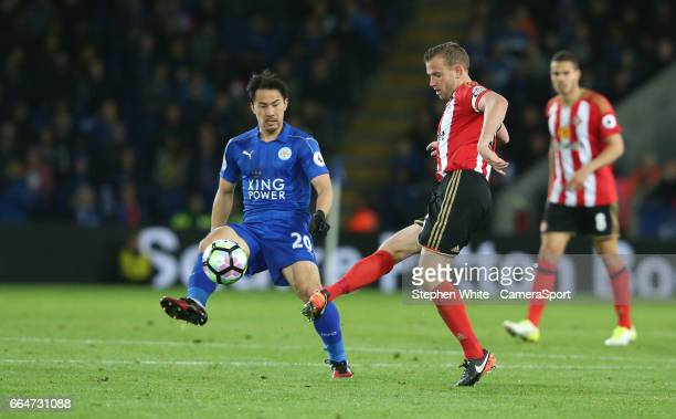 Sunderland's Lee Cattermole during the Premier League match between Leicester City and Sunderland at The King Power Stadium on April 4 2017 in...