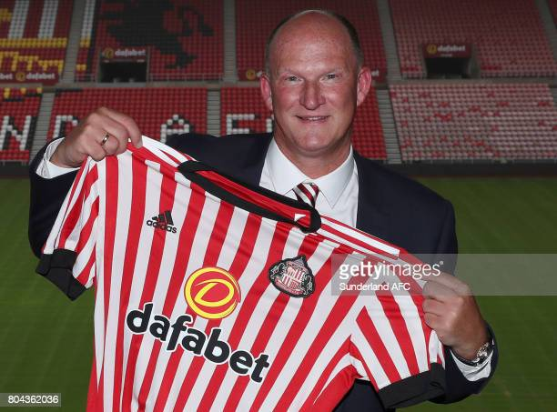 SUNDERLAND ENGLAND JUNE Sunderland's manager Simon Grayson poses for pictures at The Stadium of Light on June 30 2017 in Sunderland England