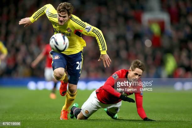 Sunderland's Marcos Alonso and Manchester United's Adnan Januzaj