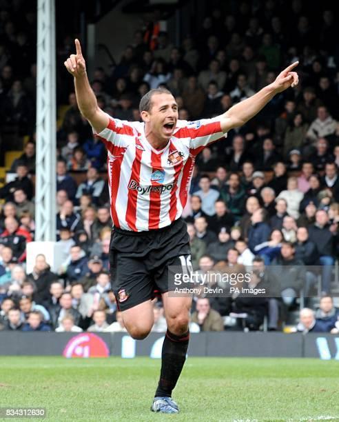 Sunderland's Michael Chopra celebrates his goal