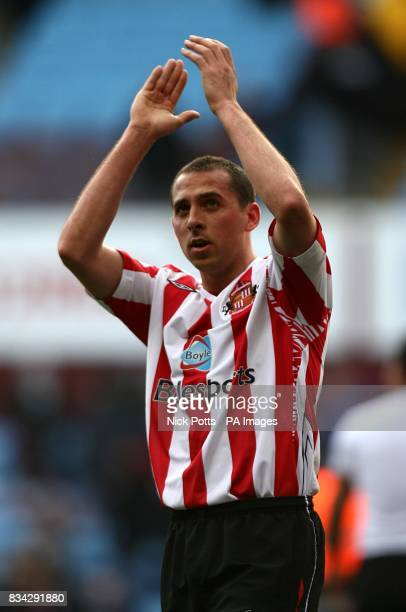 Sunderland's Michael Chopra celebrates victory after the final whistle