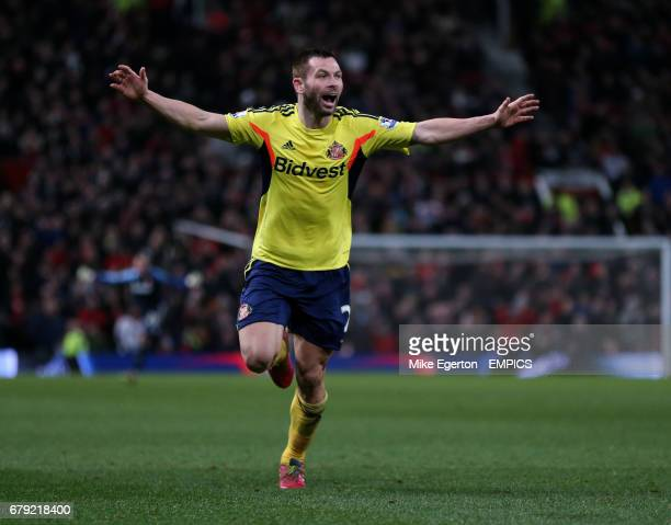 Sunderland's Phil Bardsley celebrates scoring their second goal
