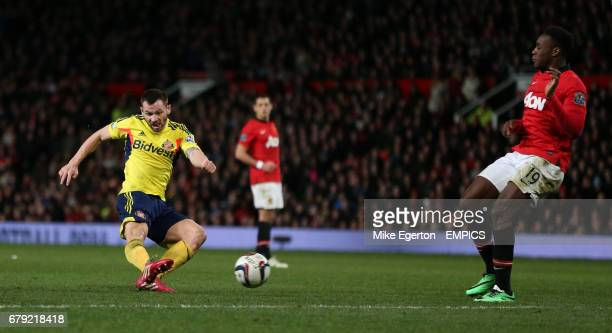 Sunderland's Phil Bardsley scores their second goal
