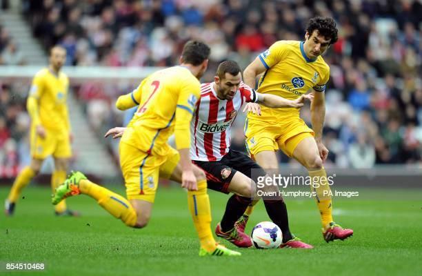 Sunderland's Phil Bardsley takes on Crystal Palace's Mile Jedinak