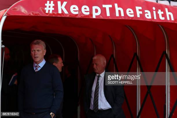 Sunderland's Scottish manager David Moyes arrives for the English Premier League football match between Sunderland and Swansea City at the Stadium of...