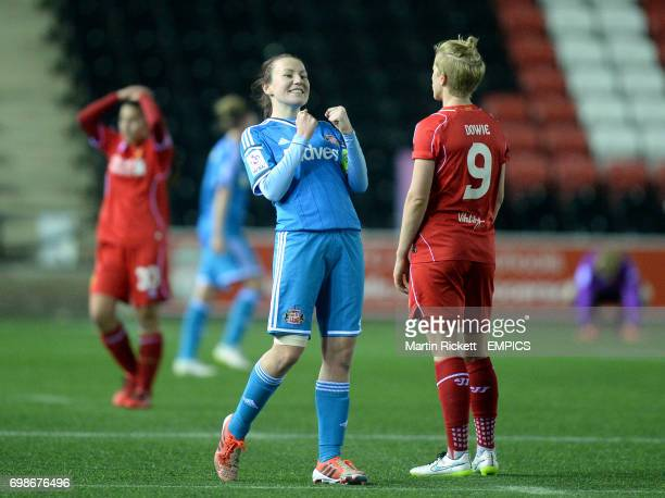 Sunderland's Stephanie Bannon celebrates at the final whistle
