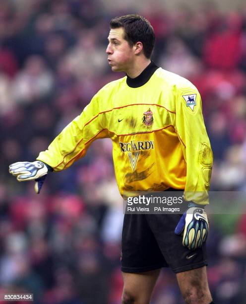 Sunderland's Thomas Sorensen during the FA Cup Third Round game between Sunderland and West Browich Albion at the Stadium of Light Sunderland...