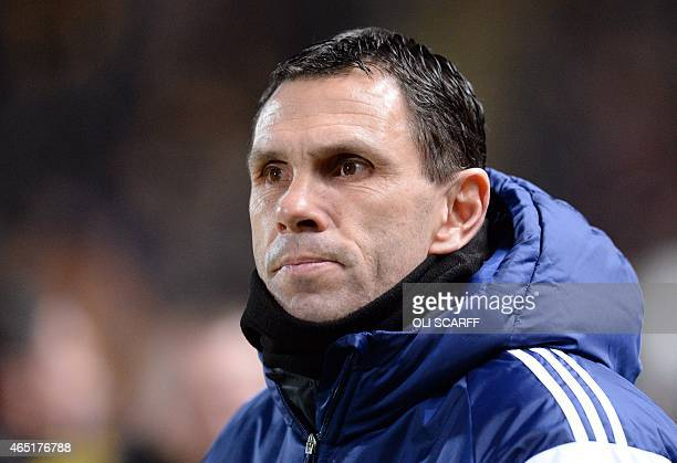 Sunderland's Uruguayan manager Gus Poyet arrives for the English Premier League football match between Hull City and Sunderland at the KC Stadium in...