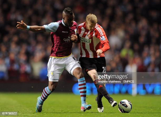 Sunderland's Yacouba Sylla and Sunderland's James McClean battle for the ball