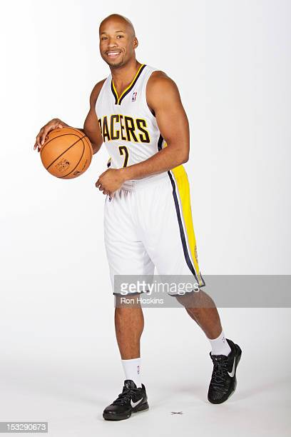 Sundiata Gaines of the Indiana Pacers poses for a photo during 2012 NBA Media Day on October 1 2012 at Bankers Life Fieldhouse in Indianapolis...