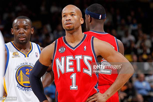Sundiata Gaines of the New Jersey Nets during a game against the Golden State Warriors on March 30 2012 at Oracle Arena in Oakland California NOTE TO...