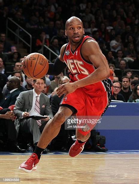 Sundiata Gaines of the New Jersey Nets in action against the New York Knicks on February 20 2012 at Madison Square Garden in New York City The Nets...