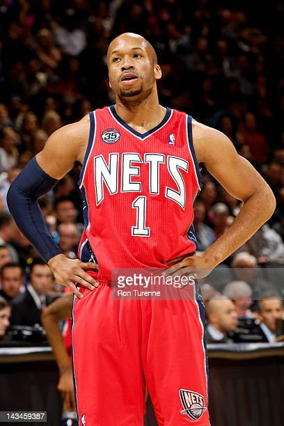 Sundiata Gaines of the New Jersey Nets plays against the Toronto Raptors on April 26 2012 at the Air Canada Centre in Toronto Ontario Canada NOTE TO...
