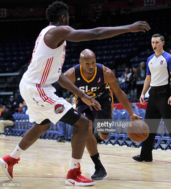 Sundiata Gaines of the Salt Lake City Stars drives to the basket against the Rio Grande Valley Vipers on December 5 2016 at the State Farm Arena in...