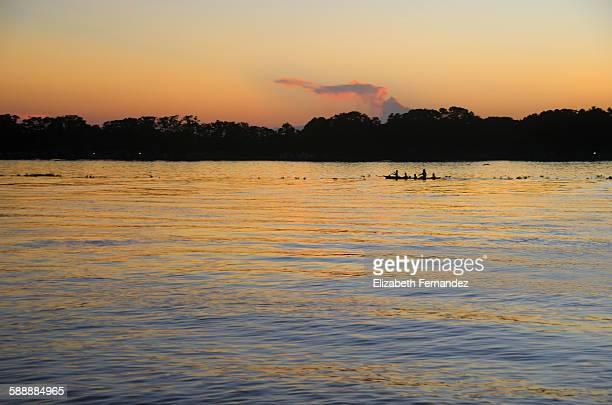 Sundown at the Orinoco delta