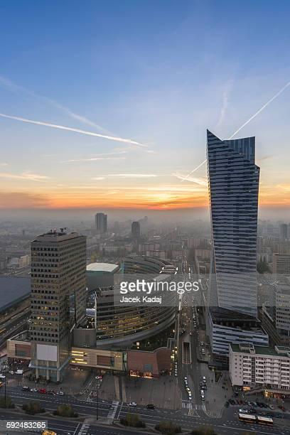 Sundown in Warsaw, Poland