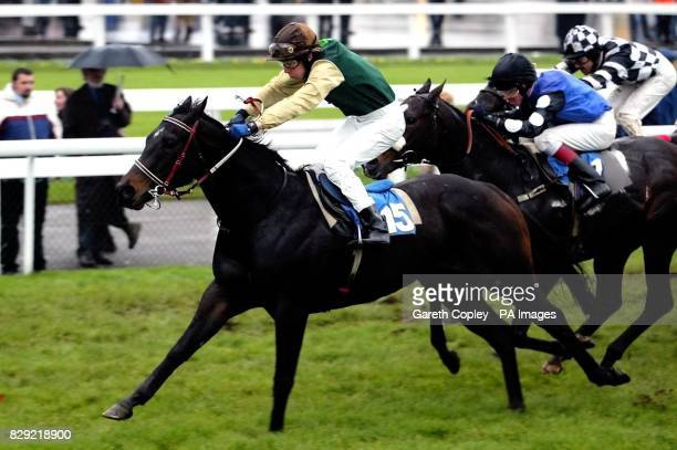 Sundried Tomato ridden by Luke Fletcher wins the Dransfield Company stakes at Doncaster Racecourse