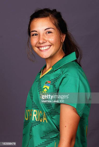 Sune Luus of the South Africa Womens Cricket Team poses for a portrait ahead of the Womens ICC World T20 at the Galadari Hotel on September 22 2012...