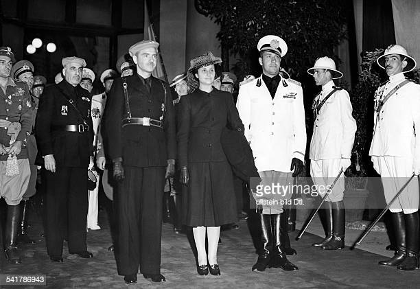Suner Ramon Serrano Politician Spain* arrival in Rome from left Suner his wife and Foreign Minister Galeazzo Count Ciano Vintage property of ullstein...