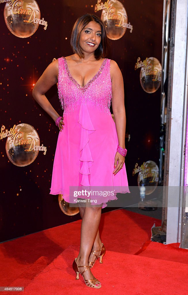 Sunetra Sarker attends the red carpet launch for Strictly Come Dancing 2014 at Elstree Studios on September 2, 2014 in Borehamwood, England.