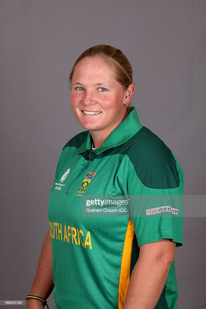 Sunette Loubser of South Africa poses at a portrait session ahead of the ICC Womens World Cup 2013 at the Taj Mahal Palace Hotel on January 27, 2013 in Mumbai, India.
