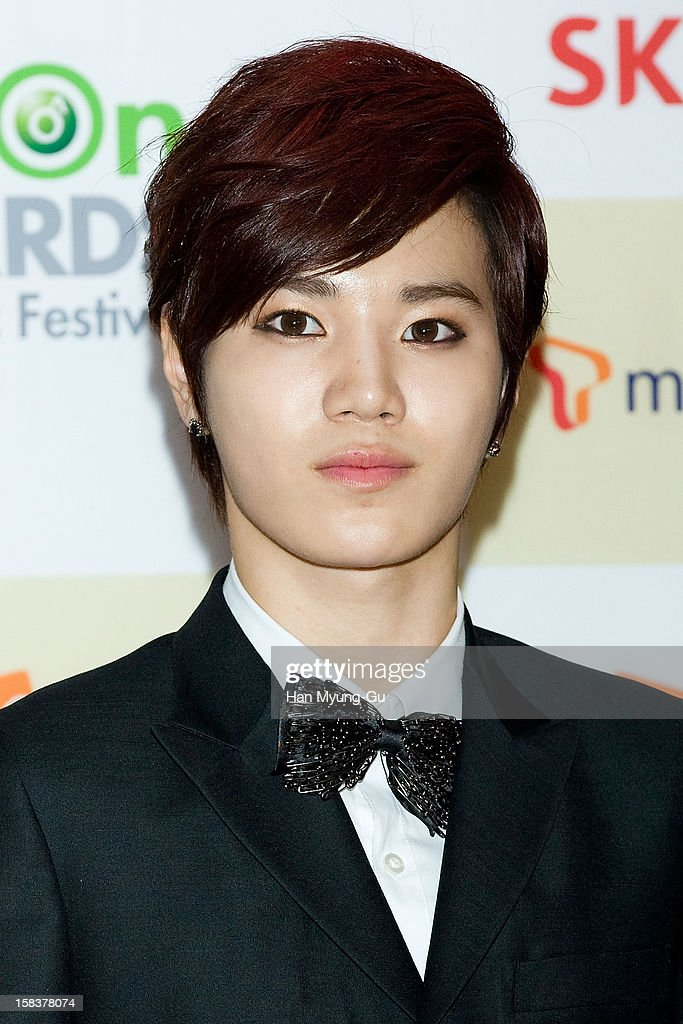 Sung Jong of South Korean boy band Infinite arrives at the 2012 Melon Music Awards at Olympic Gymnasium on December 14, 2012 in Seoul, South Korea.