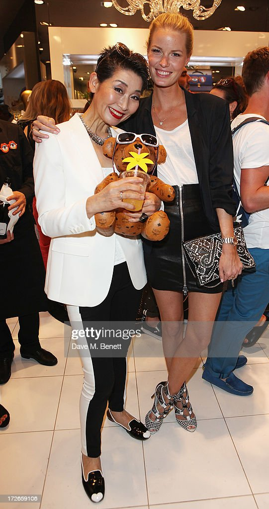 Sung Joo Kim (L) and Caroline Winberg attends the MCM Craig And Karl Launch Event on July 4, 2013 in London, England.