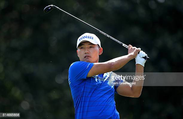 Sung Kang of Korea hits off the ninth tee during the first round of the Valspar Championship at Innisbrook Resort Copperhead Course on March 10 2016...