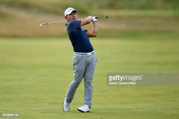 Sung Kang of Korea on the 8th hole during the third round of the 146th Open Championship at Royal Birkdale on July 22 2017 in Southport England