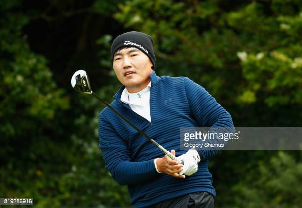 Sung Kang of Korea tees off on the 5th hole during the first round of the 146th Open Championship at Royal Birkdale on July 20 2017 in Southport...