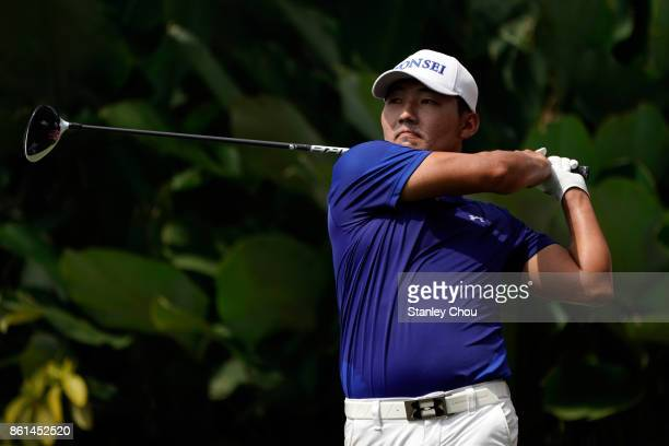 Sung Kang of South Korea in action during the final round of the 2017 CIMB Classic at TPC Kuala Lumpur on October 15 2017 in Kuala Lumpur Malaysia