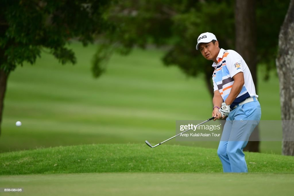 Sung Mao-chang of Taiwan during round three of the Yeangder Tournament Players Championship at Linkou lnternational Golf and Country Club on October 7, 2017 in Taipei, Taiwan.
