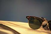Sunglass on Magazine, Close Up, Differential Focus