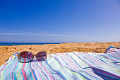 Sunglasses and beach