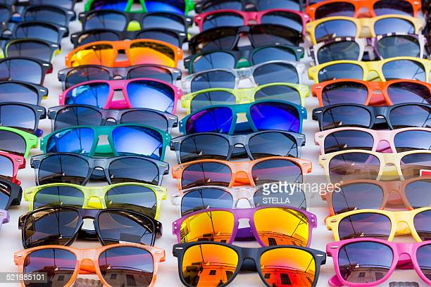 Sunglasses for sale, weekly market, Santanyi, Majorca, Balearic Islands, Spain