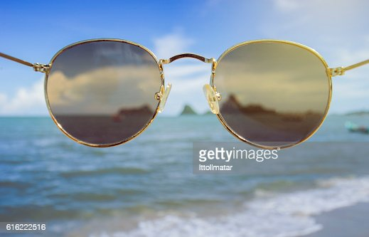 sunglasses front of the camera : Foto stock