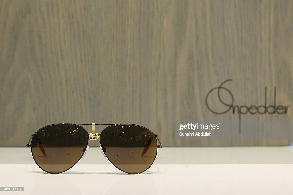 Sunglasses of Victoria Beckham label is seen at On Pedder at Scotts Square on May 12, 2014 in Singapore. Victoria Beckham is in Singapore for the first time to showcase her ready-to-wear pieces from her eponymous fashion label in Singapore