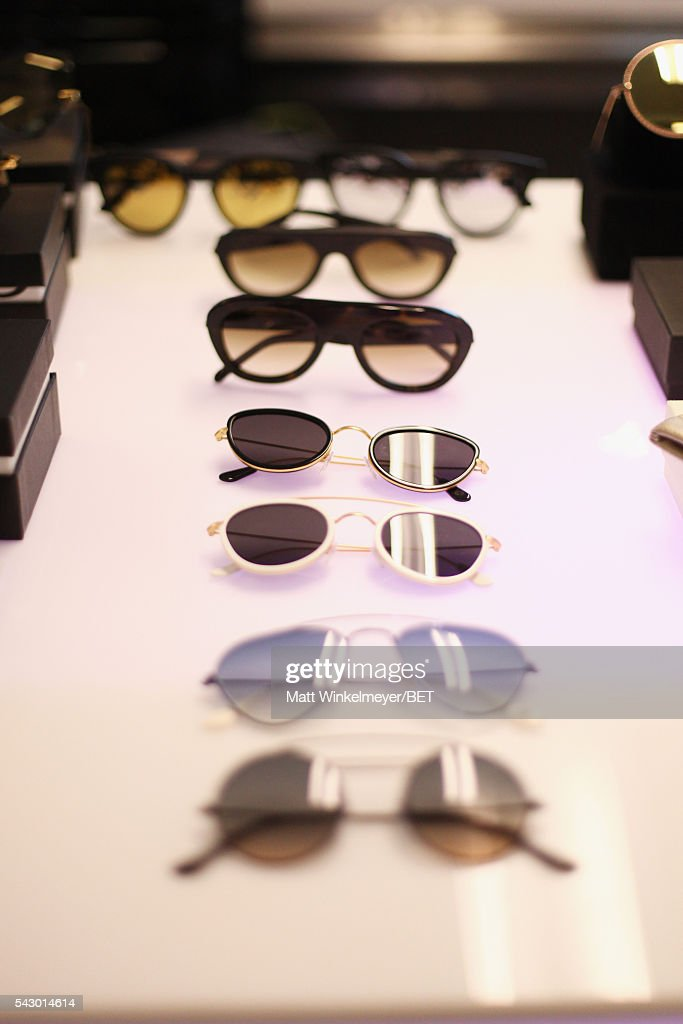 Sunglasses on display at the BETX gifting suite during the 2016 BET Experience on June 25, 2016 in Los Angeles, California.