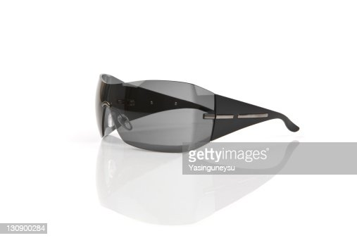 Sunglasses Side View White Background, Close-up : Stock Photo