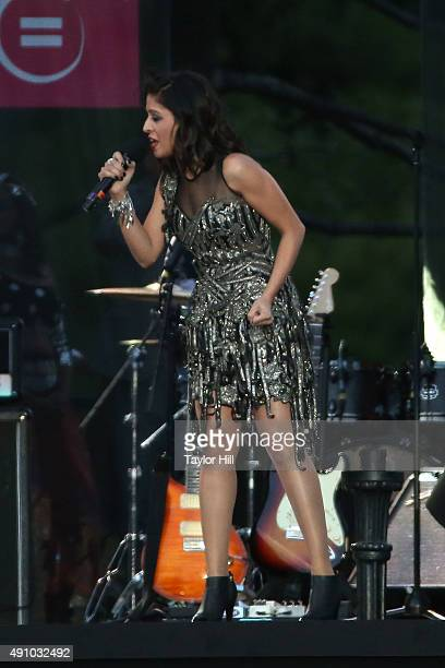 Sunidi Chauhan performs during the 2015 Global Citizen Festival at Central Park on September 26 2015 in New York City