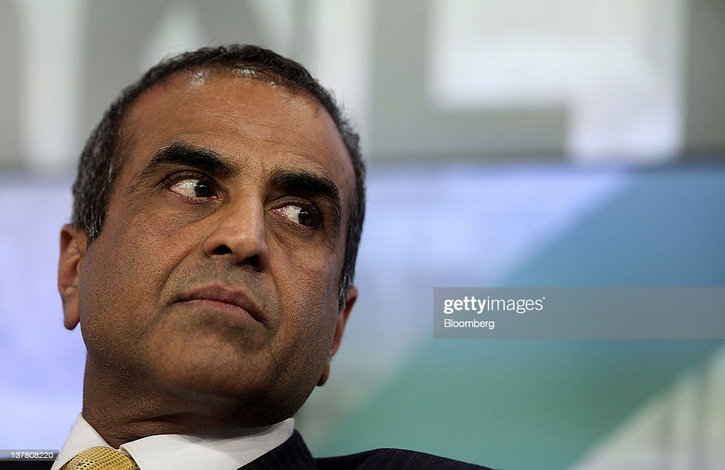 Sunil Bharti Mittal, chairman and chief executive officer of Bharti Enterprises Ltd., listens during a session on day three of the World Economic Forum (WEF) in Davos, Switzerland, on Friday, Jan. 27, 2012. The 42nd annual meeting of the World Economic Forum will be attended by about 2,600 political, business and financial leaders at the five-day conference. Photographer: Chris Ratcliffe/Bloomberg via Getty Images