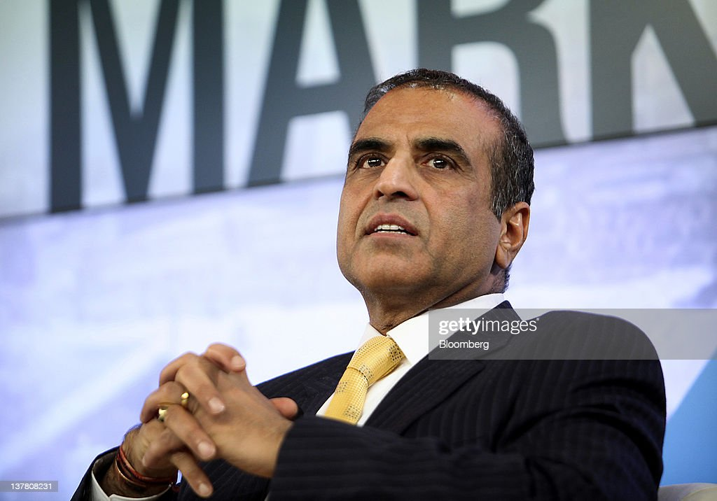 Sunil Bharti Mittal, chairman and chief executive officer of Bharti Enterprises Ltd., speaks during a session on day three of the World Economic Forum (WEF) in Davos, Switzerland, on Friday, Jan. 27, 2012. The 42nd annual meeting of the World Economic Forum will be attended by about 2,600 political, business and financial leaders at the five-day conference. Photographer: Chris Ratcliffe/Bloomberg via Getty Images