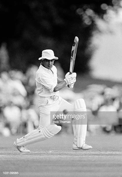 Sunil Gavaskar of India batting during the Lavinia Duchess of Norfolk's XI versus the Rest of the World XI cricket match held at Arundel on 9th...